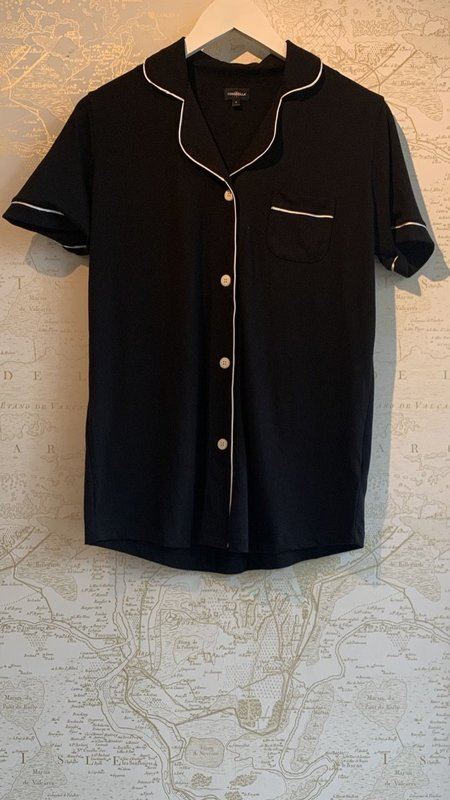 Cosabella Short Sleeve Pyjama Set - Black