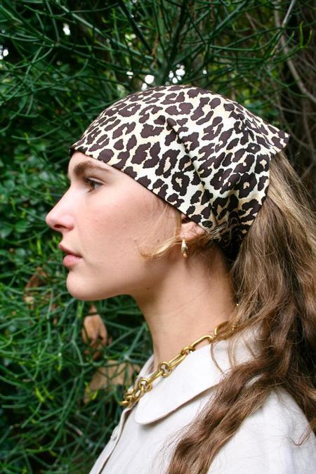 Lotte99 Silk Headscarf - Cheetah