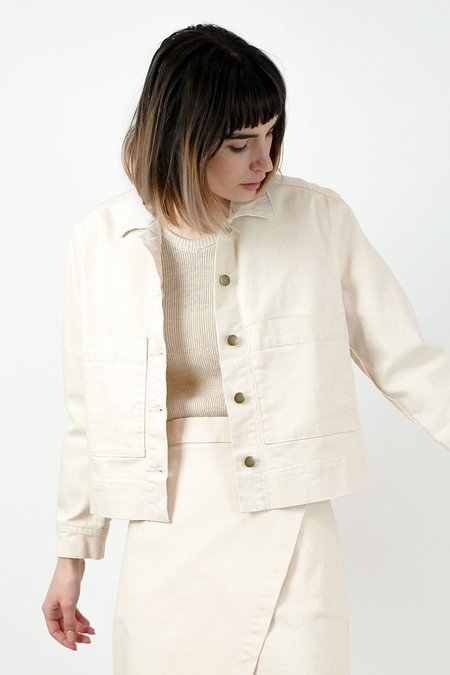 MICAELA GREG WORK JACKET - CREAM
