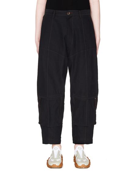 Ziggy Chen Cotton Trousers - Navy Blue
