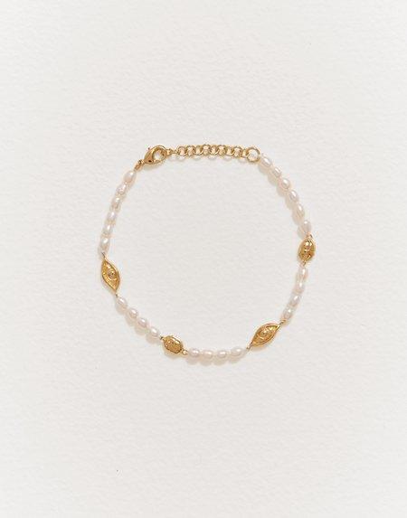 Pamela Love Eye Line Bracelet - Gold Plated