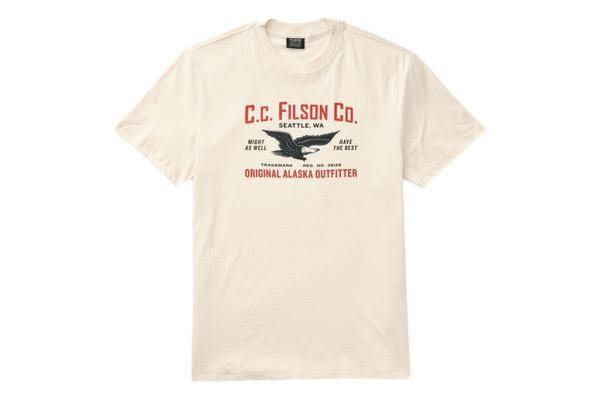 Filson Short Sleeve Lightweight Graphic Outfitter T Shirt - Birch