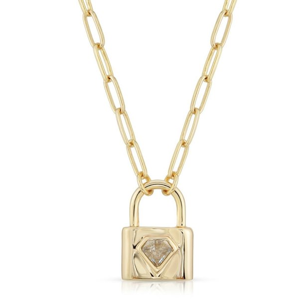 Joy Dravecky Indio Lock Necklace - Aqua