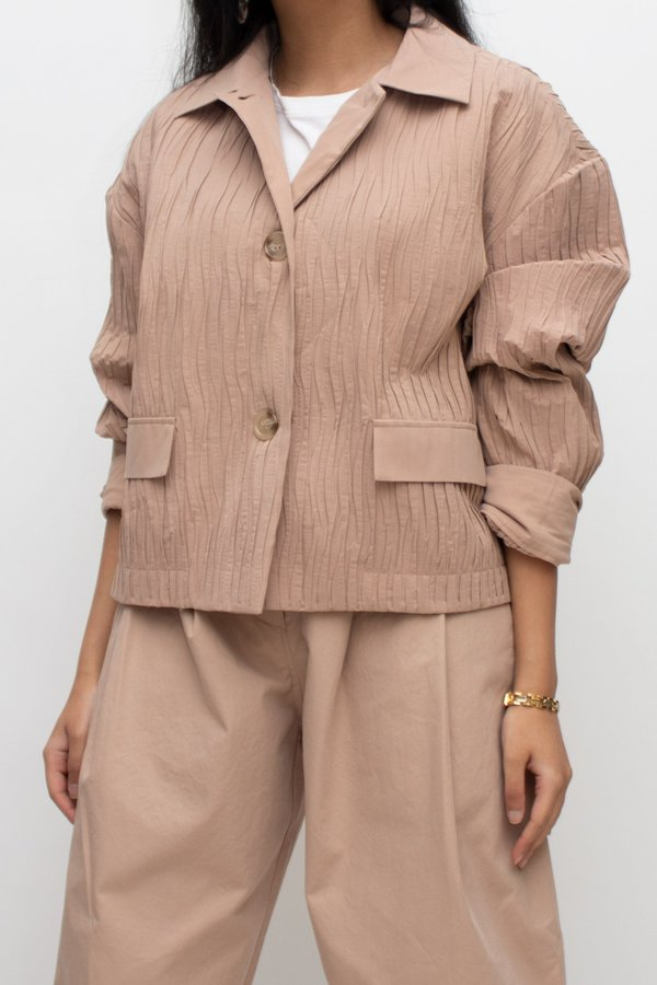 W A N T S Canyon Crinkle Pleated Jacket