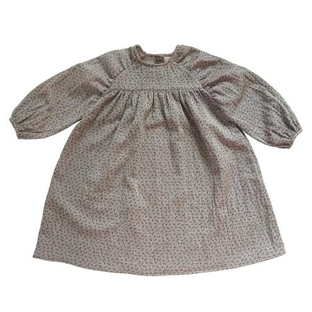 Kids Tambere Long Sleeved Dress - Floral Melan Grey