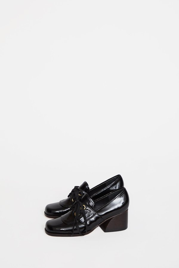 No.6 Milo Leather Oxford - Ink
