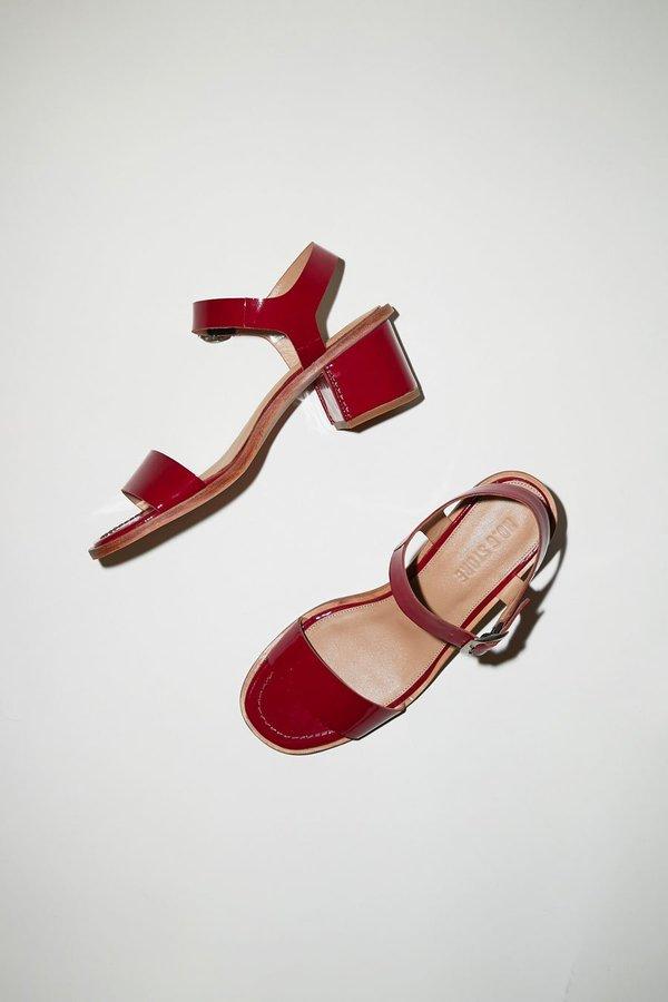 No.6 Palermo Sandal - Raspberry Patent