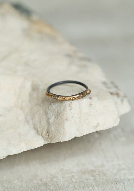 Variance Objects Baguette Diamond and 14KT-24KT Gold Ring