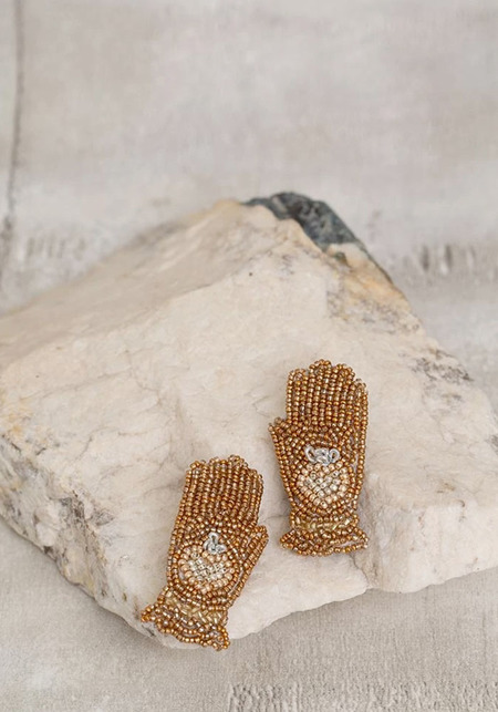 Olivia Dar Hamsa Earrings