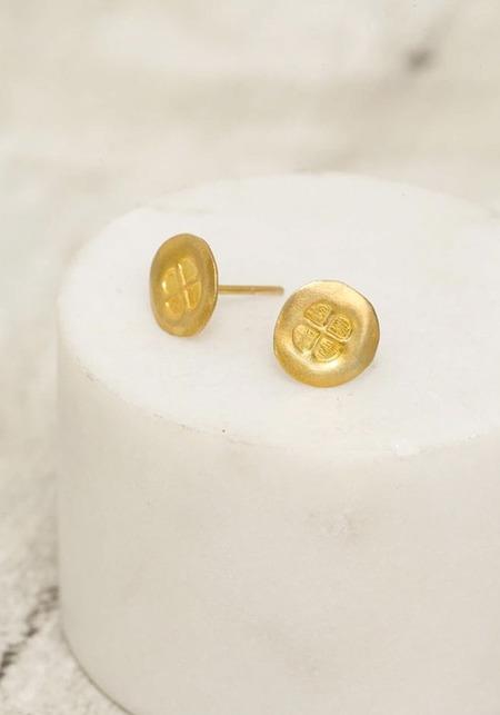River Song Talisman Stud Earrings - Gold Vermeil
