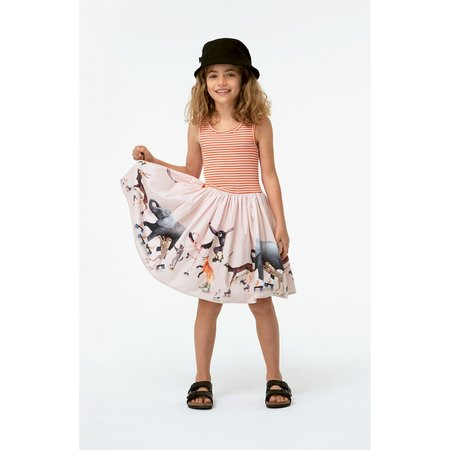 kids molo cassandra dress with roller skating