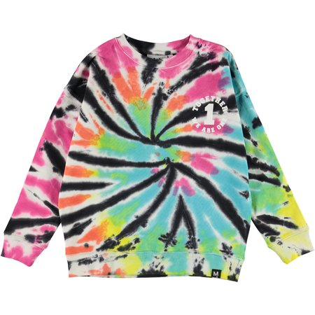 kids molo max tie dye sweatshirt - multi