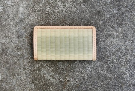 Eatable of Many Orders Tatami Long Wallet - Natural