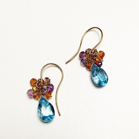 Tilla Earth Bouquet Pierce Earrings - 18K Gold
