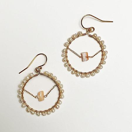 Tilla Earth Hope Pierce Earrings - 14K Gold