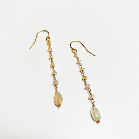 Tilla Earth Long Pierce Earrings - 14K Gold