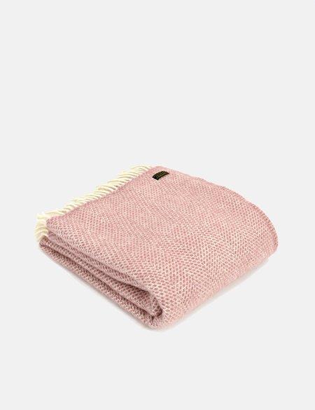 Tweedmill Beehive Throw - Dusky Pink
