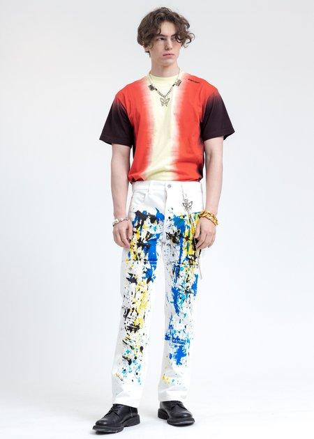 Ambush Tie Dye Paneled T Shirt - Yellow