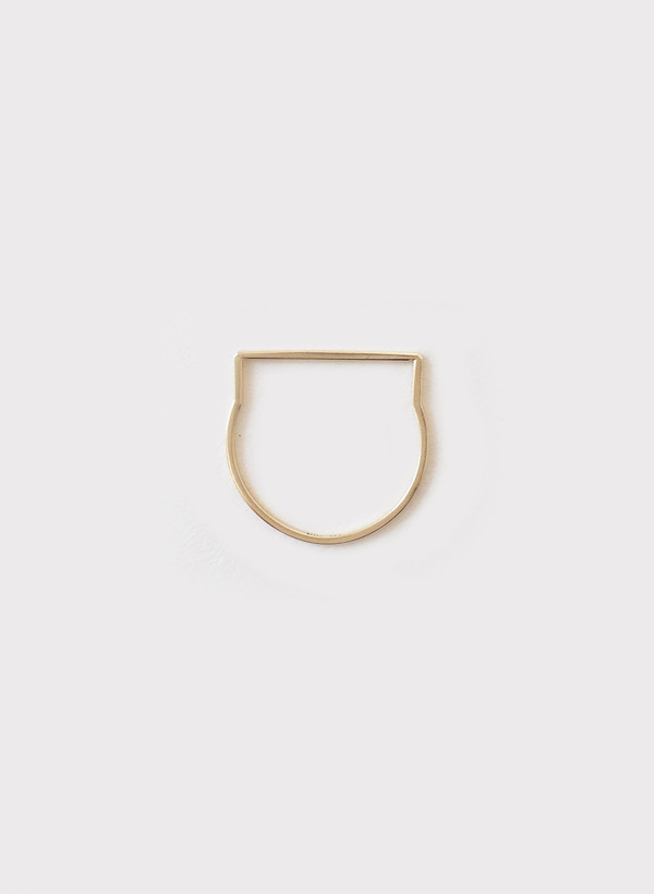 Mute Object Line 14K Gold Ring