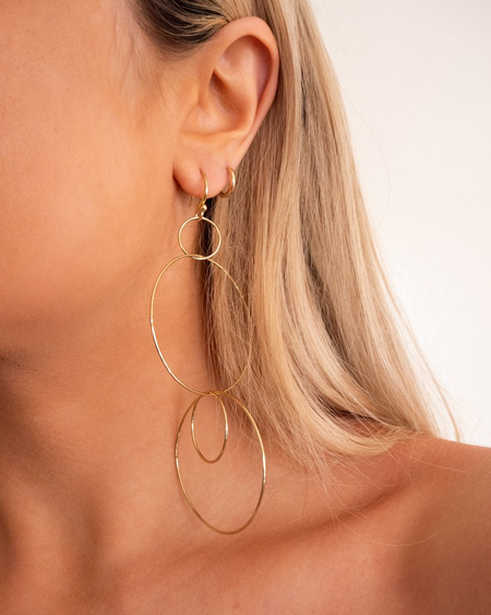 Behind The Seams The Whisper Wire Hoops - Gold