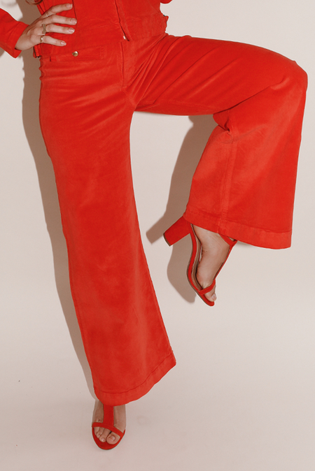 Sugarhigh Lovestoned Woody Wide Leg Pant - Red