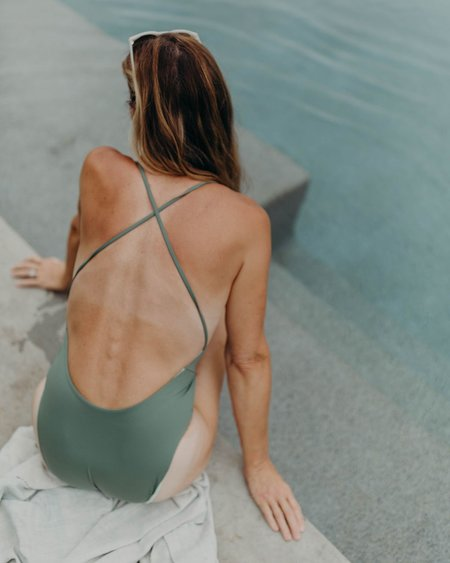 Esby Mallory One Piece - Seaweed/Seaglass