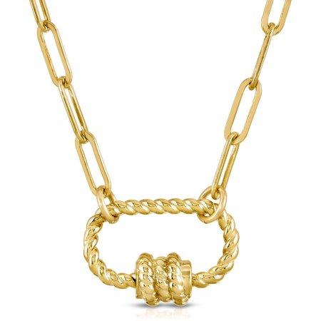 Pattino Shoe Boutique Joy Dravecky Knot Today Necklace - Gold