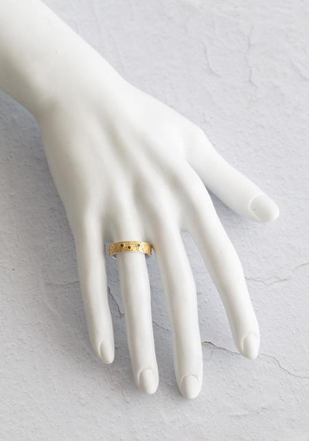 Temple Of The Sun Vermeil/Garnets Lynx Ring - 18KT Gold