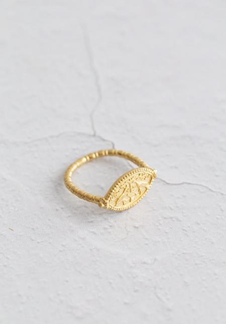 Temple Of The Sun Gaia Ring - 18KT Gold Vermeil