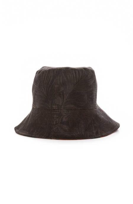 ZIRAN Reversible Bucket Hat - FLORAL PLAID/LEAVES