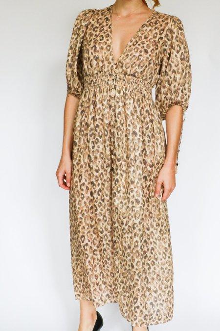 [Pre-loved] Zimmermann Midi Dress - Leopard