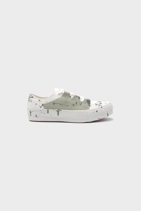 Needles Asymmetric Ghillie Sneaker - White Paint