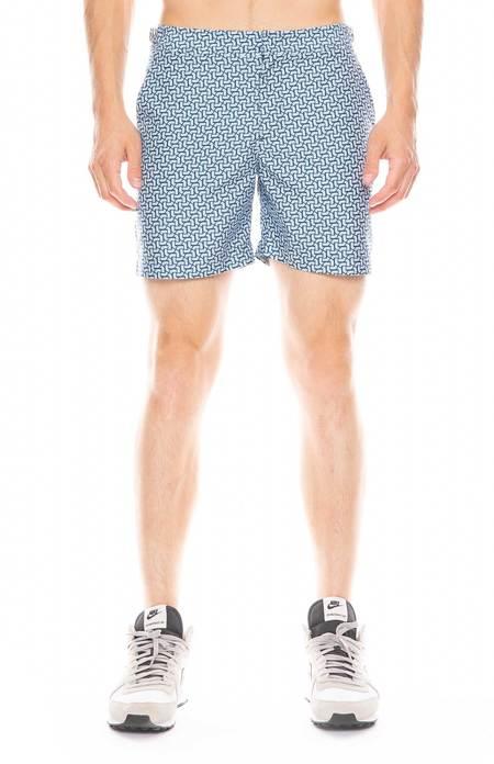 Orlebar Brown Bulldog Coronada Print Swim Shorts - Dark Aquamarine/Sea Breeze