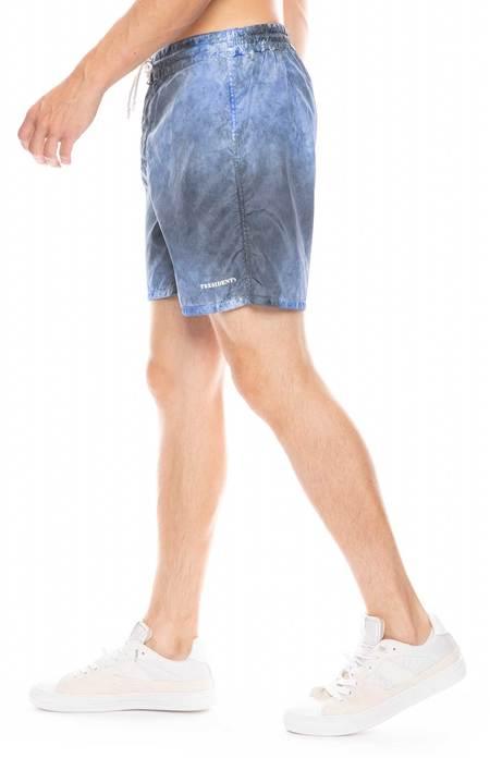 PRESIDENTS Retro Nylon Tie Dye Swim Shorts - BLUE NAVY