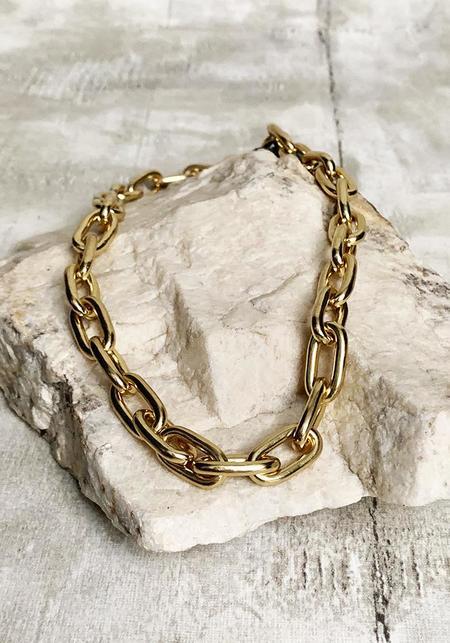 Satomi Studio Chunky Chain Link Brass Necklace