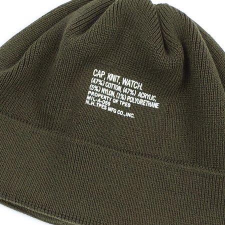 N.Hoolywood KNIT WATCH CAP - KHAKI