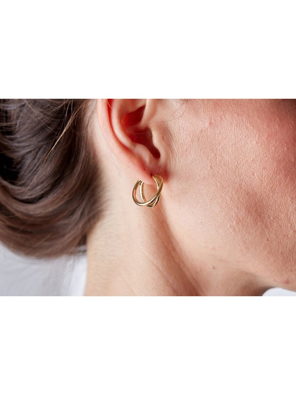 Wolf Circus Charlie Hoops - 14k Gold