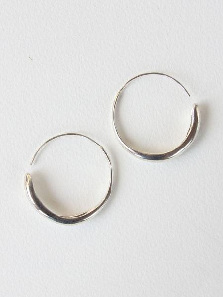 SALT AND STILL Large Fluent Hoops - Sterling Silver