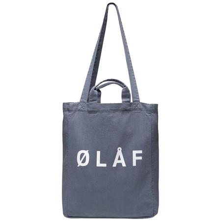 Olaf Hussein Tote Bag - Steel Blue