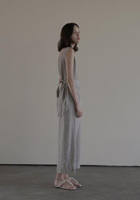 Verso Sleeveless Linen Jumpsuit