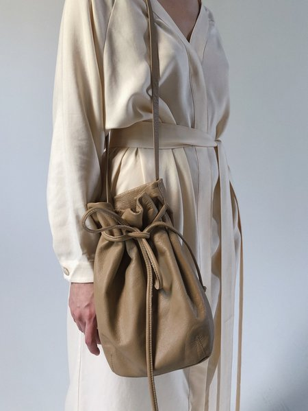 Are you String Leather Bucket Bag