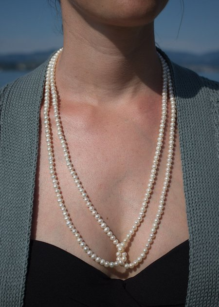 Sophie Buhai Long Delicate Pearl Necklace