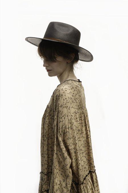 """INTENTIONALLY __________."" LINDSAY Straw Panama Hat - Black"