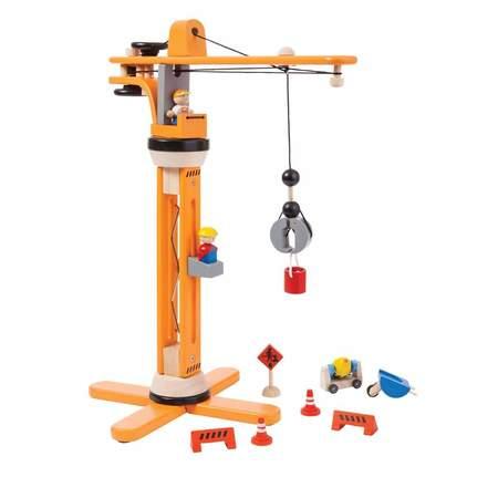 Kids Plan Toys Wooden Crane Set