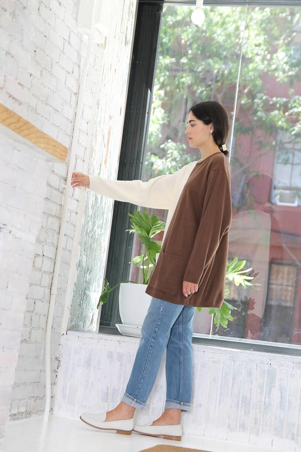 DUO NYC Vintage Color Block Pocket Pullover