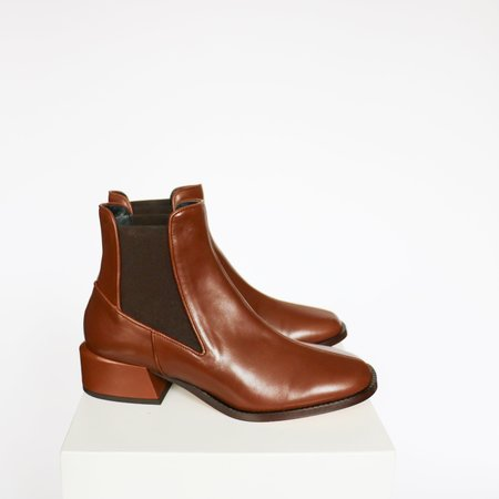 [pre-loved] Tibi Ankle Boots - Brown