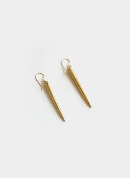 Soko Spike Earrings - Brass