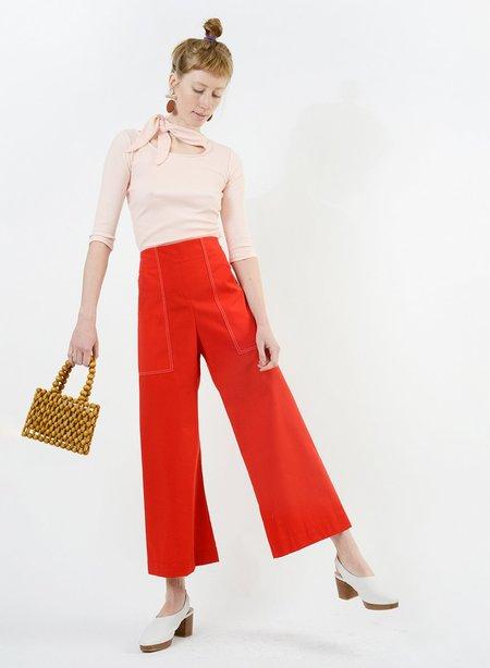 Meg Stitched Harold Pant - Red