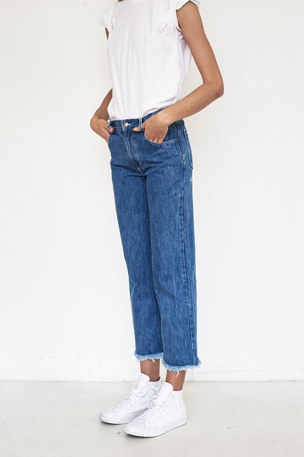 Sandy Liang Cotton Grandpa Jeans