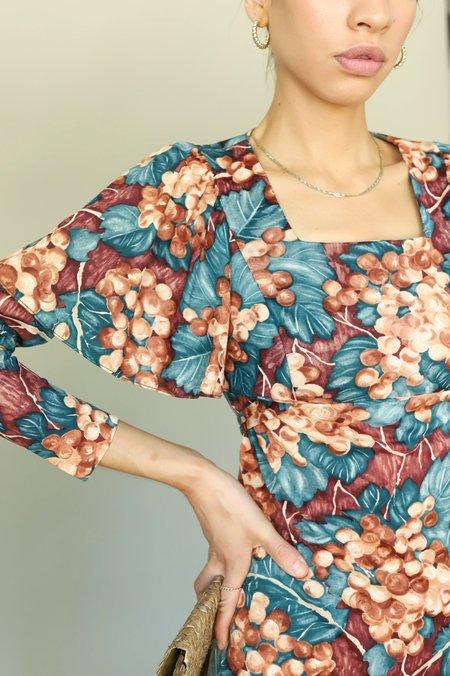Vintage 70s Flutter Long Sleeve Dress